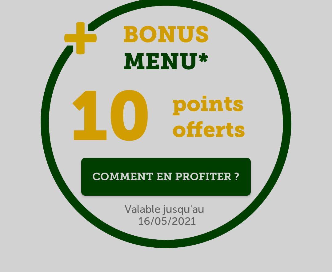 10 points offerts pour l'achat d'un menu Maxi Best Of - Marx Dormoy (75)