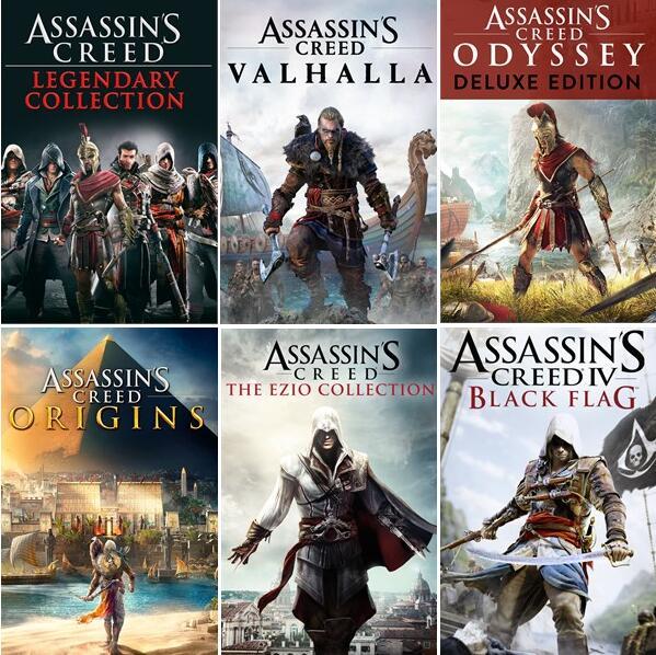 Sélection de jeux Assassin's Creed sur Xbox en promotion. Ex: Assassin's Creed Origins (Dématérialisé - Store BR)