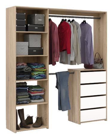 Dressing avec 4 tiroirs - H. 200 x L. 180 x P. 40 cm