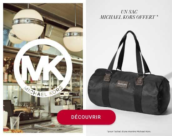 Un sac Michael Kors offert pour l'achat d'une montre Michael Kors