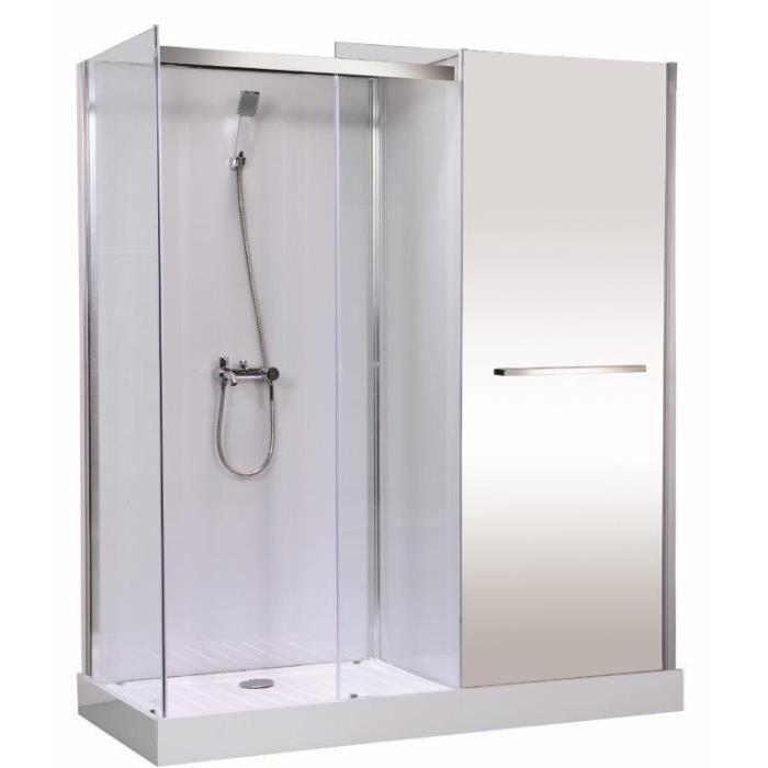 Cabine de douche meublante Gelco Fastnew 80X180 cm