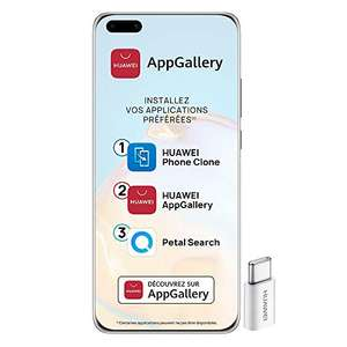 "Smartphone 6.58"" Huawei P40 Pro 5G - 256Go, 8Go de Ram, Double Nano"