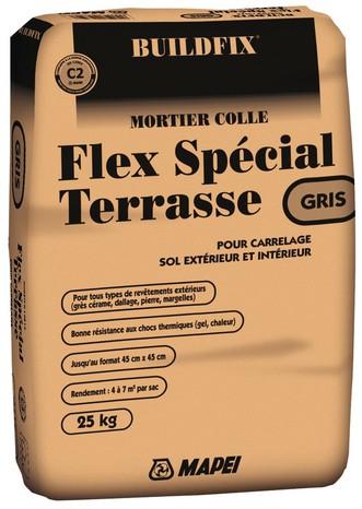 Mortier Colle Flex spécial terrasse - 25 kg