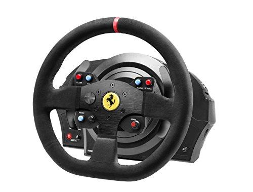 Volant avec Pédalier Thrustmaster T300 Ferrari Integral Alcantara Edition pour Playstation & PC