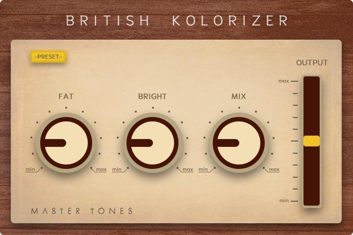 Plugin British Kolorizer gratuit sur PC & Mac (Dématérialisé - VST / AU) - master-tones.com
