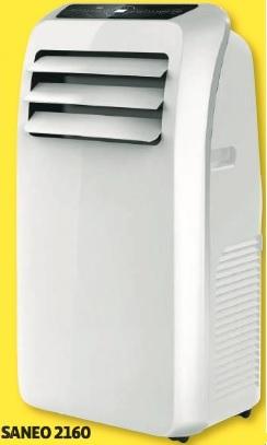 Climatiseur programmable Saneo 2160 avec télécommande - 12000 BTU, 360 m3/h, 64 dB - Epagny (74)