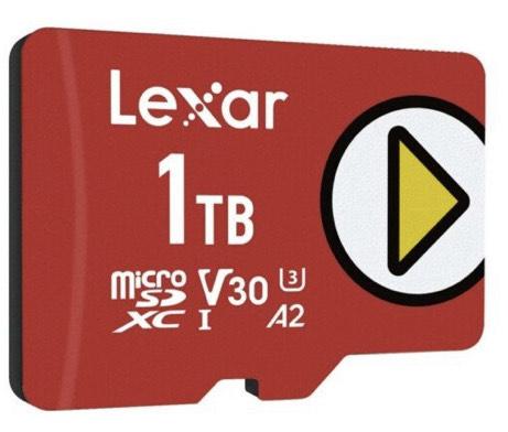 Carte mémoire microSDXC Lexar Play - 1 to , UHS-I Jusqu'à 150 Mo/s en Lecture (LMSPLAY001T-BNNAG)