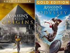 Assassin's Creed Odyssey Gold Edition à 11.04€ & Origins Gold à 9.47€ sur PS4 / PS5 (Dématérialisé, Store BR)