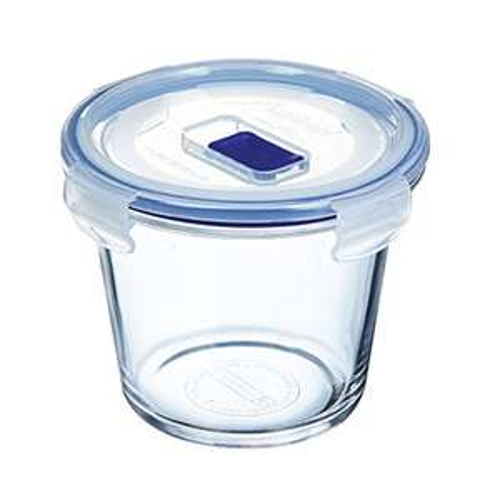 Boîte de Conservation hermétique en verre Luminarc Pure Box Active - rond, 0,84 L