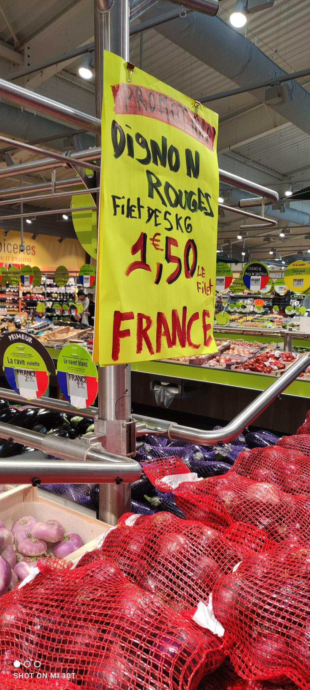 Filet d'oignons rouge - Origine France, 5kg