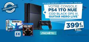 Console Sony PS4 1 To + Call of Duty Black Ops III + Guitar Hero Live avec Guitare
