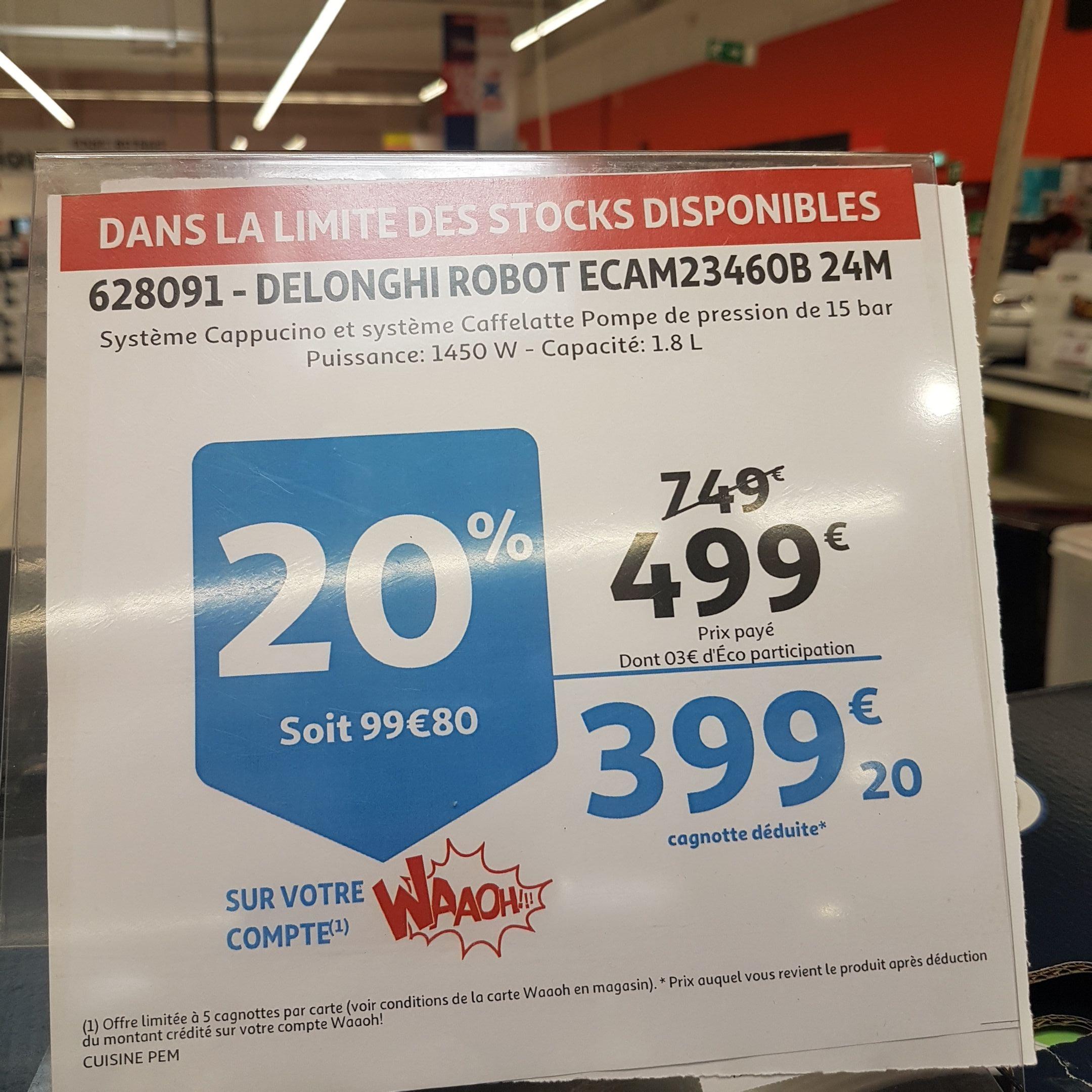 Cafetière Broyeur Delonghi Ecam 23460B avec système Caffelatte (via 100€ sur la carte) - Toulouse (31)