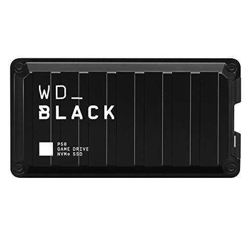 SSD NVMe externe WD_BLACK P50 500Go - Jusqu'à 2000Mo/s pour PC, Xbox One et PS4