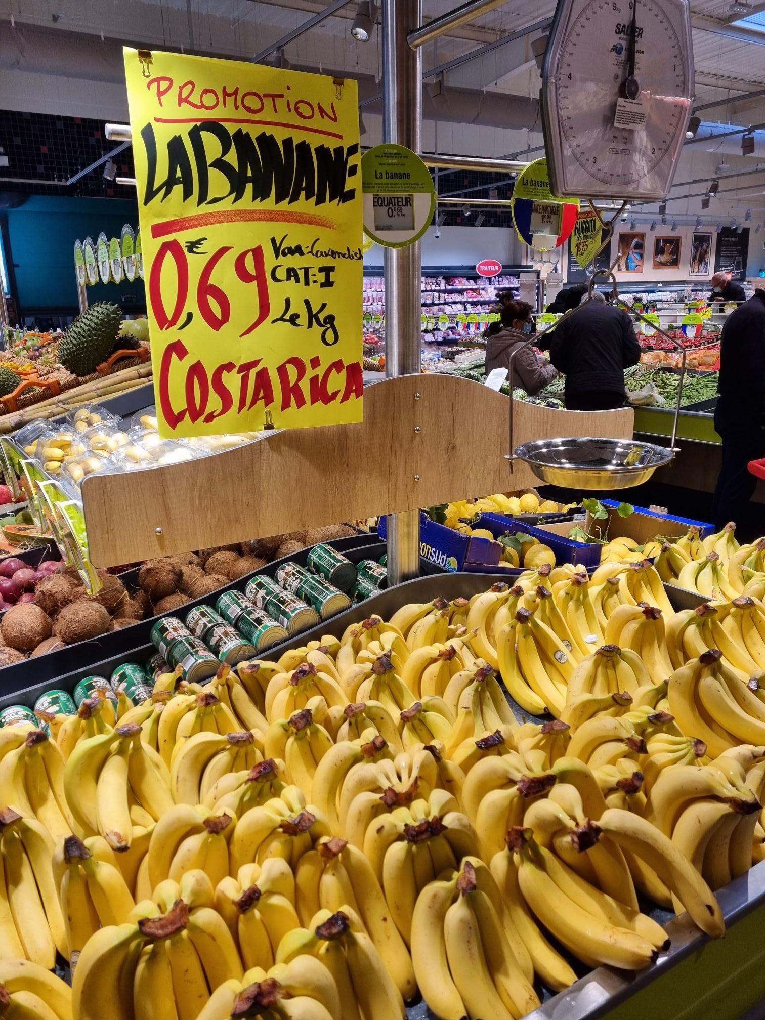 Bananes cavendish Origine Costa-Rica (le kilo) - Osny (95)