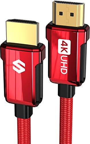Câble HDMI 2.0b Silkland - 4K 2m (vendeur tiers) (version rouge)