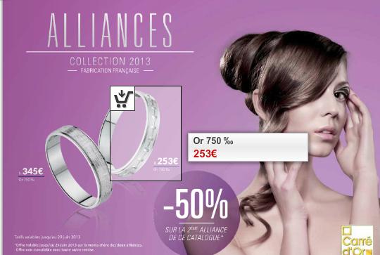 -50% sur la deuxième alliance