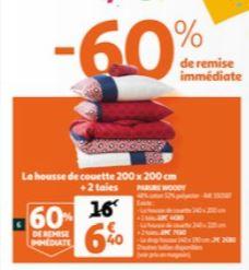 Sélection de paruress de lit en promotion - Ex : Housse de couette 200 x 200 + 2 taies