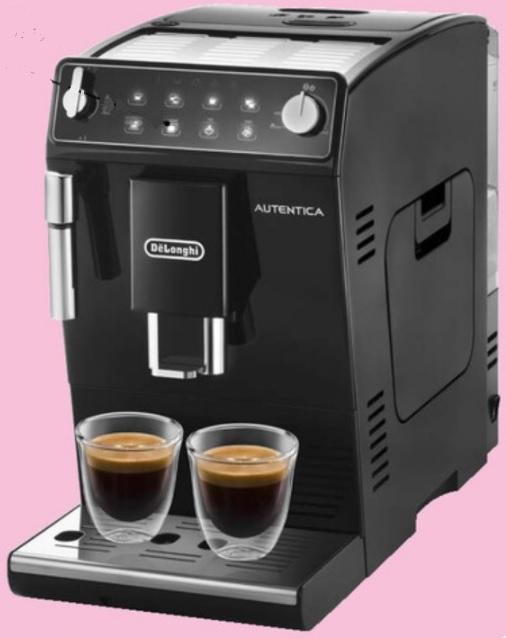 Machine à café avec broyeur Delonghi Autentica Doppio+ ETAM 29.510.B - Noir (via 50 € sur Carte Fidélité)