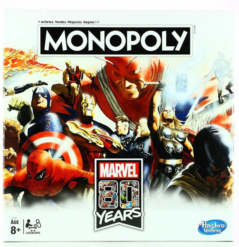 Jeu de Société Monopoly Marvel 80th Anniversary