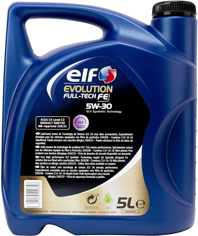 Huile moteur ELFEvolution Full-Tech FE 5W30 - 5L