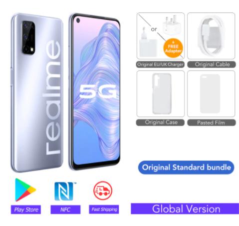 """Smartphone 6.5"""" Realme 7 5G - 6 Go de RAM, 128 Go"""