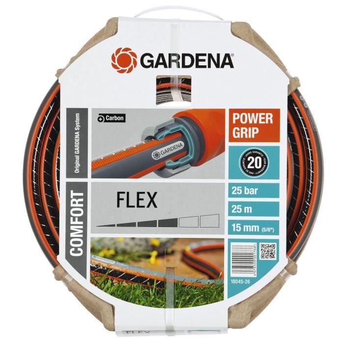 Tuyau d'arrosage Gardena Comfort Flex 18045-26 - diamètre 15mm, 25m (via ODR de 5.40€)