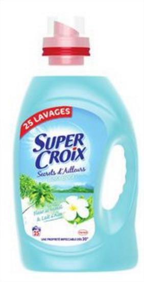 3 bidons de lessive Super Croix 2en1 (25 lavages)