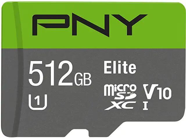 Carte microSDXC PNY - 512 Go + Adaptateur SD