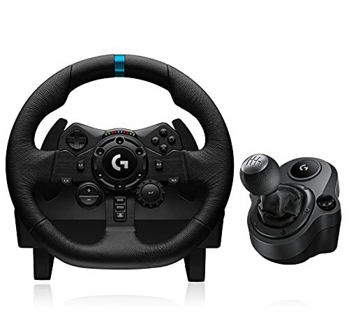Volant de Course + Pédalier Logitech G923 + Levier de Vitesse G Driving Force pour Playstation & PC