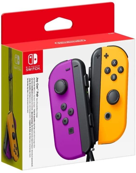 Paire de Manettes Nintendo Joy-Con Violet Néon / Orange Néon