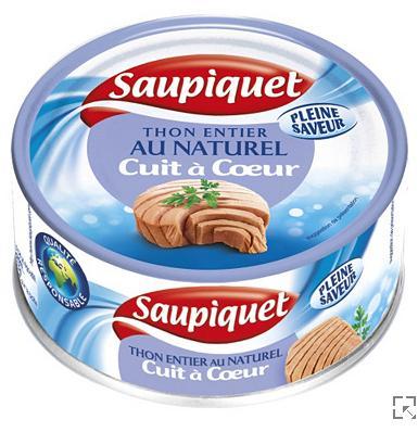 Lot de 12 boite de thon Saupiquet au naturel (160g)