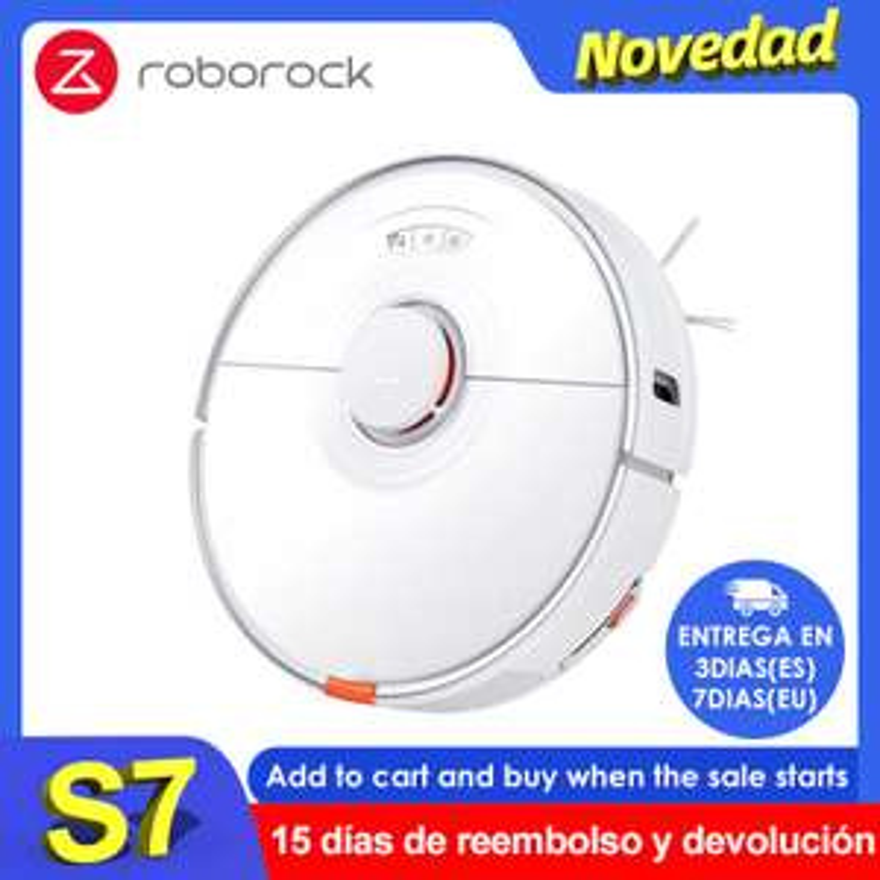 Aspirateur robot laveur connecté Roborock S7 (491.99€ via Code FRMAY018 - Entrepôt Espagne)