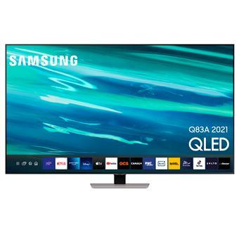 """TV Samsung 65"""" QE65Q83A 4K UHD 2021 Argent éclipse (via ODR de 200€)"""