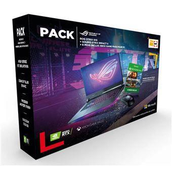 "PC Portable Gaming 15.6"" Asus Strix G15 (144 Hz, Ryzen 7 5800H, 16 Go RAM, 512 Go SSD, W10) + Souris Asus ROG Strix + 6 mois Xbox Game Pass"