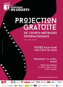Projection gratuite de Courts-Métrages Internationaux (+ Pop-corn offert)