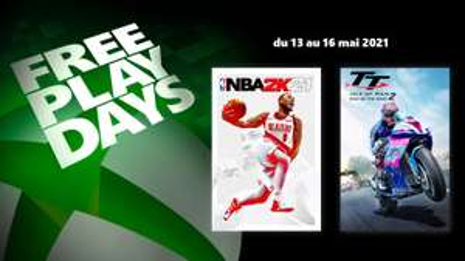 [Gold & Game Pass Ultimate] NBA 2K21 & TT Isle of Man: Ride on the Edge 2 jouable gratuitement ce week-end sur Xbox (dématérialisé)