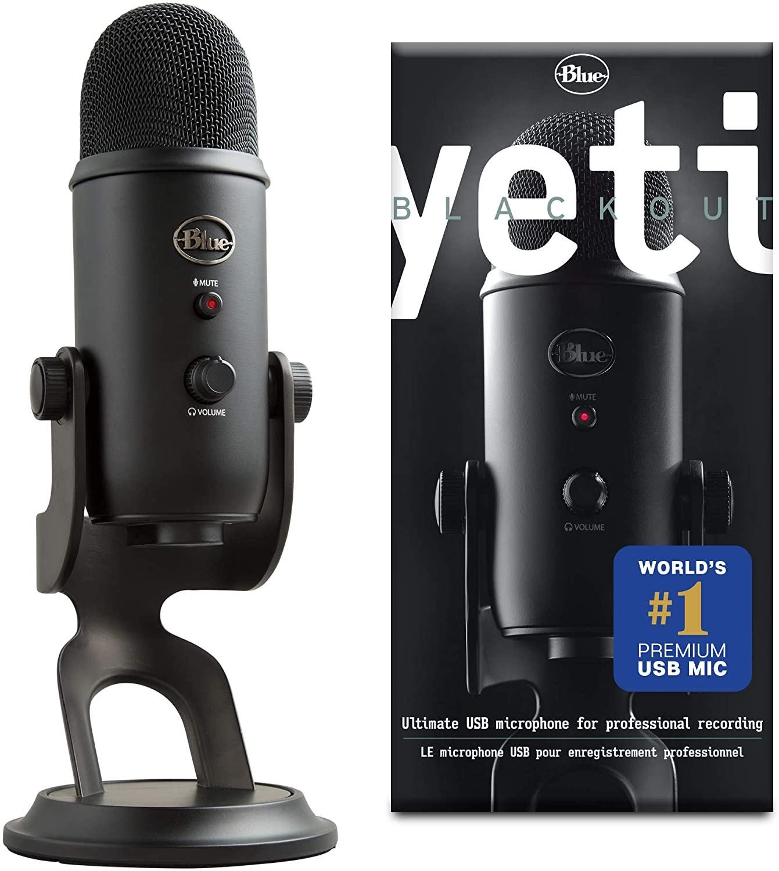Microphone USB Blue Yeti - noir