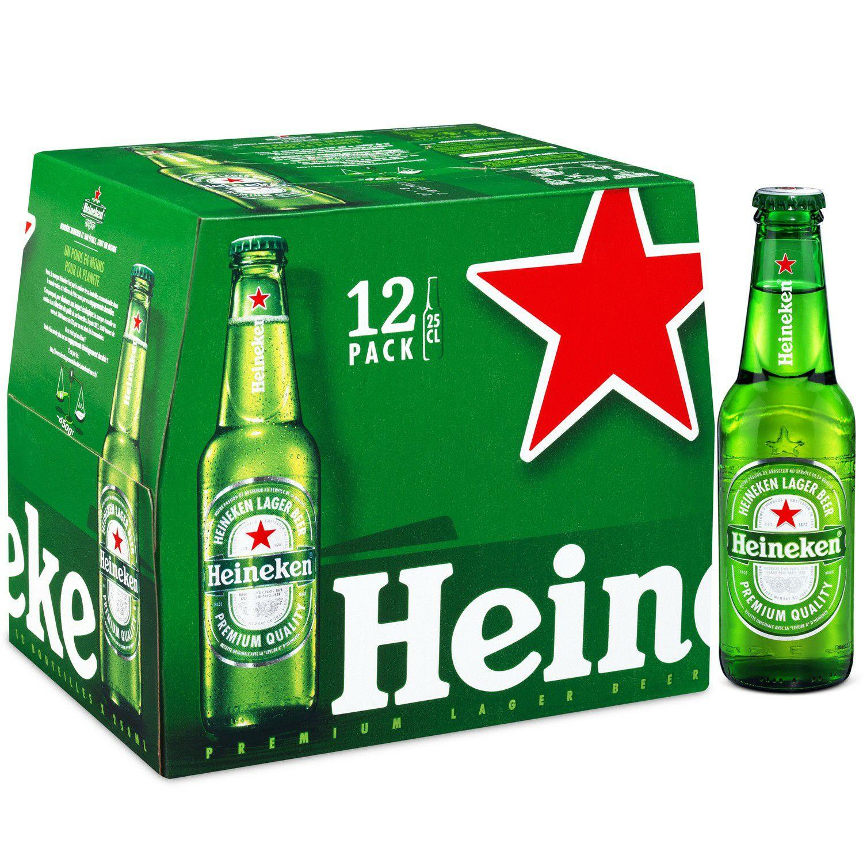 3 packs de bières blonde Heineken - 36 x 25 cl