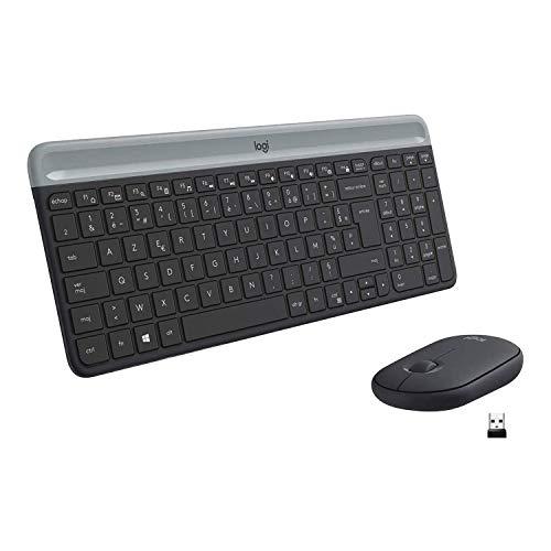 Pack clavier et souris sans Fil Logitech MK470 - Ultra-Fin, Batterie Longue Durée, Souris Optique