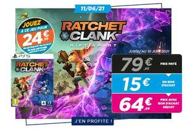[Précommande] Jeu Ratchet & Clank : Rift Apart sur PS5 à 39,99€ pour la reprise d'un jeu ou accessoire (parmi une sélection)