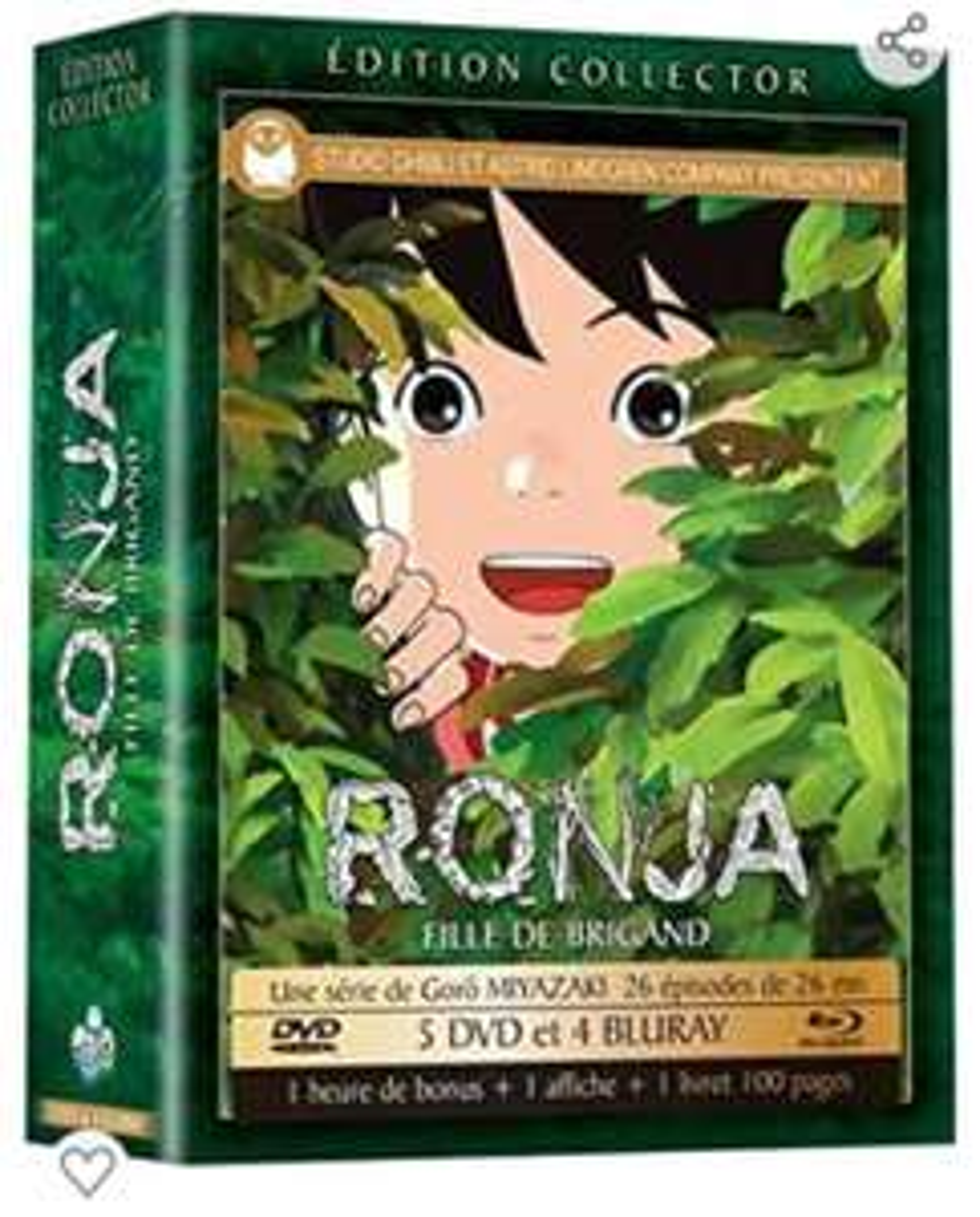 Coffret DVD + Blu-Ray Ronja, fille de brigand Edition Collector - La série complète