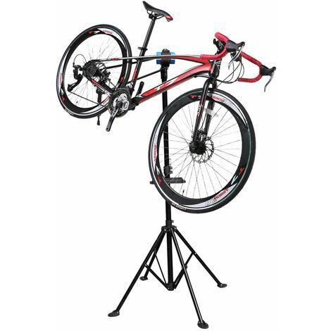 Pied d'atelier WilTec pour vélo et VAE - pivotant 360°, support de montage jusqu'à 30kg
