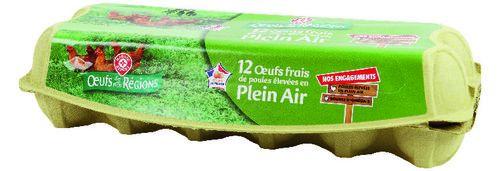 Boîte de 12 Œufs de poules élevées en plein air (via 0.49€ sur la carte fidélité)