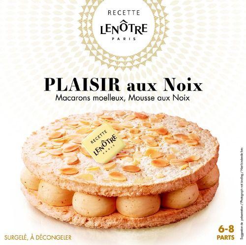 """Gâteau surgelé """"Le plaisir aux noix macarons moelleux et mousse au noix"""" Lenôtre - 410 g (plusieurs variétés)"""