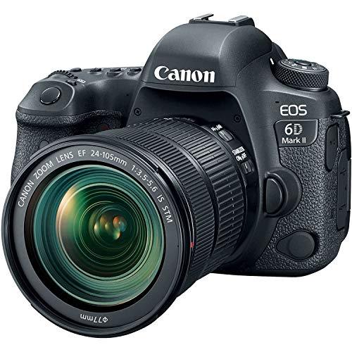 Appareil photo reflex Canon EOS 6D Mark II (Noir) + Objectif EF 24-105 mm f/3.5-5.6 IS STM