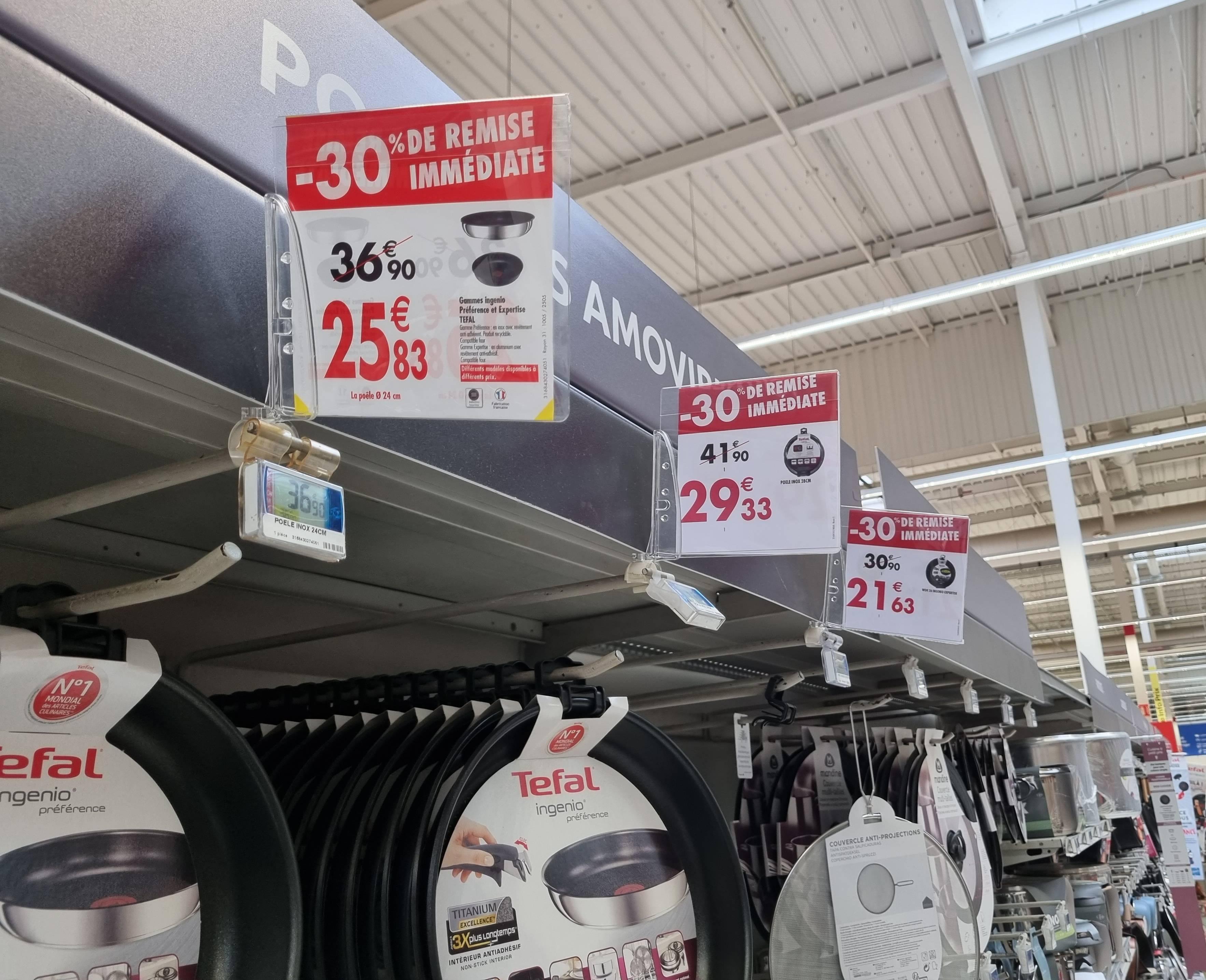 30% de réduction sur une sélection de produits Tefal Ingenio Préférence et Expertise - Ex : Poêle Inox 28cm - Portet sur Garonne (31)