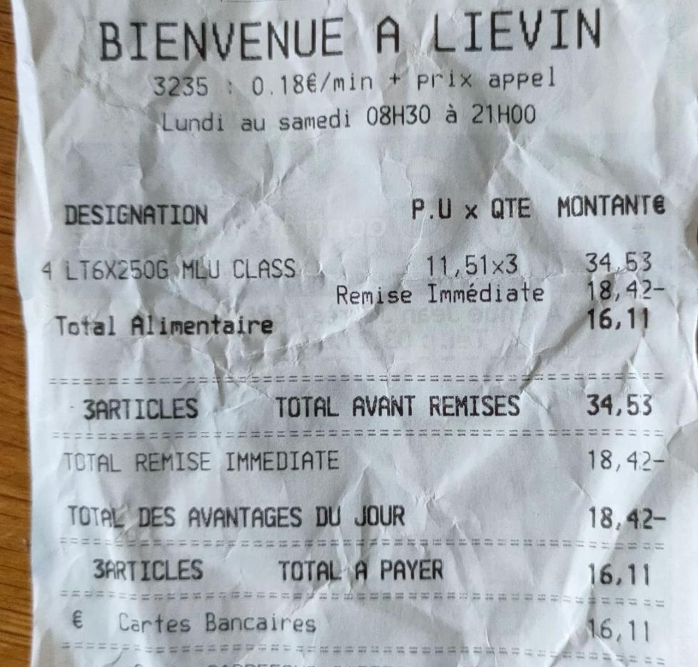 3 Packs de 6 Paquets de Café Moulu Carte Noir (18x 250g) - Lievin (62)