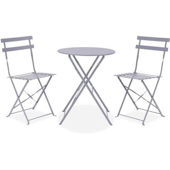 Table pliante 60 cm + 2 chaises avec 20% cdav