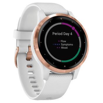 Montre GPS connectée Garmin vivoactive 4S - White/Rose Gold (Frontaliers Suisse)