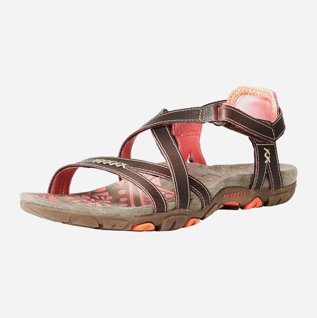 Sandales de randonnée Merrell Sandspur Rose Leather pour Femme - Tailles 36 à 42